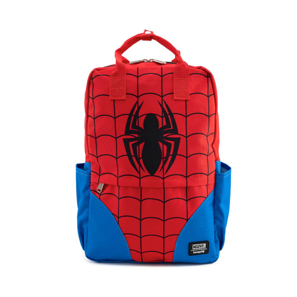 $ New LOUNGEFLY MARVEL Coin Bag Pouch Purse SPIDERMAN AVENGERS Nylon Red Blue